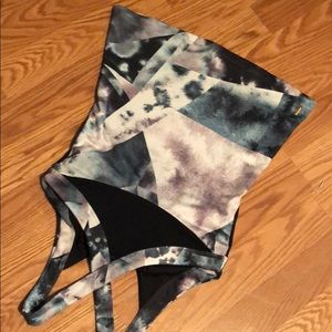 LUCY Watercolor Geometric Print Athletic Tank Med